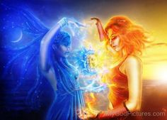 Goddess Hemera And Goddess Nyx-dx302