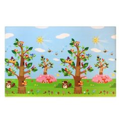 BABY CARE™ Large Baby Play Mat in Birds in Trees - BedBathandBeyond.com