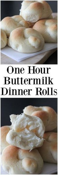 One Hour Buttermilk Dinner Rolls! Simple and these come out great every time, One Hour Buttermilk Dinner Rolls! Simple and these come out great every time, Buttermilk Recipes, Bread Recipes, Cooking Recipes, Buttermilk Bread, Bread Rolls, Dinner Rolls, Sweet Bread, Bread Baking, Food And Drink
