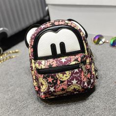 Lemon Kitten Mini School Backpack For Child Girls Women New Canvas Children School Bagfemale Rucksack Mochila Escolar