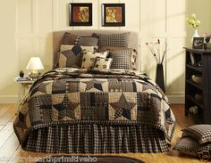 New bedding for my new headboard. King Quilt Bedding, Colchas Quilt, Star Bedding, Twin Quilt, Bedding Sets, Duvet, Queen Quilt, Star Quilts, Plaid Bedding