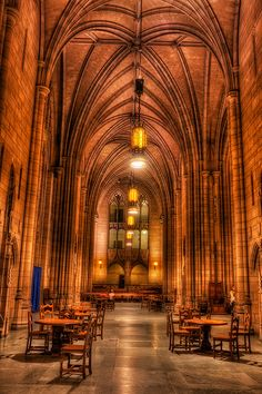Gothic Study Hall inside the Cathedral of Learning, University of Pittspurgh, Pittsburgh, Pennsylvania