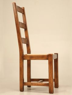 8 Handmade Vintage Country French Ladder-back Dining Chairs | From a unique collection of antique and modern dining room chairs at http://www.1stdibs.com/furniture/seating/dining-room-chairs/