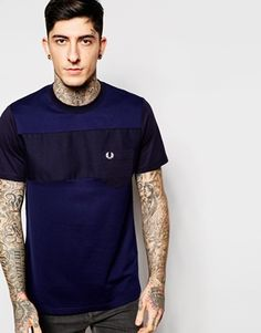 Fred Perry T-Shirt with Mix Pique