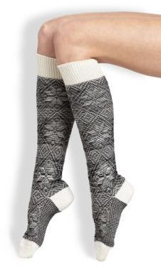 I like the look of these - fun snowflakes but muted. I could wear these to work. Maria La Rosa Snowflake Knee-High Socks. affiliate
