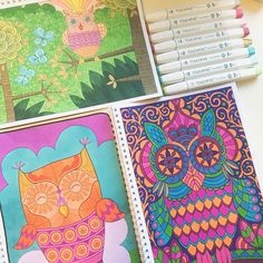 "Mental Images Coloring Books (@paivivesala_art) on Instagram: ""Owls are so cool and cute. To me they represent joyful wisdom. A connection to universal knowledge.…"""