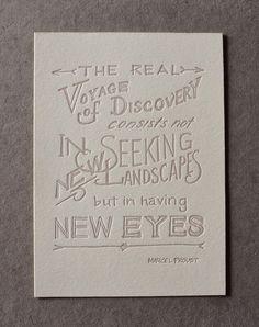 Proust Letterpress Print