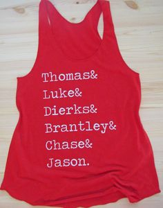Country Boys/ Country Tank/ Thomas;Luke;Dierks;Brantley;Chase;Jason by dirtroadavenue on Etsy