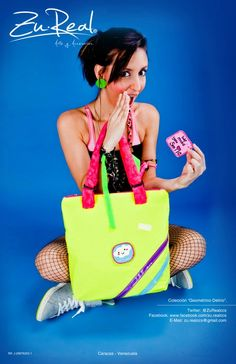 Yellow neon Patches Bag  (exchangeable patches)  #Neon #Color #Bag #Fashion