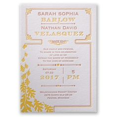 Contemporary Autumn I Fall themed letterpress wedding invitation at Invitations by Dawn
