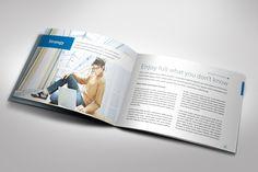 Strategic Horizontal Brochure by The Mikinger, via Behance