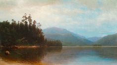 """Saranac Lake (Morning),"" Homer Dodge Martin, 1857, oil on canvas."