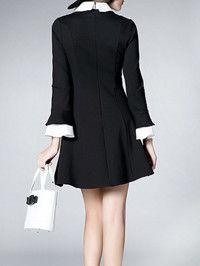 Cotton Flare Sleeve Mini Dress