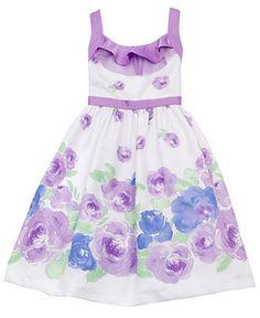 Rare Editions Kids Dress, Girls Floral Print Dress - Kids Girls 7-16 - Macys Dress for Leah