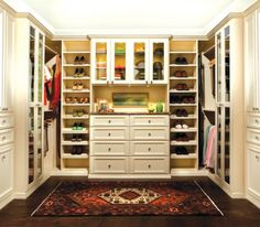 I want this closet just for me...and a new wardrobe...guess I need to win the lottery