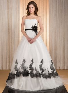 Wedding Dresses - $268.99 - Ball-Gown Sweetheart Court Train Tulle Charmeuse Wedding Dress With Ruffle Lace Sash Flower(s) (002031879) http://jjshouse.com/Ball-Gown-Sweetheart-Court-Train-Tulle-Charmeuse-Wedding-Dress-With-Ruffle-Lace-Sash-Flower-S-002031879-g31879