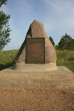 Monument: The spot on the hill where Laura Ingalls Wilder and her family lived on the prairie.