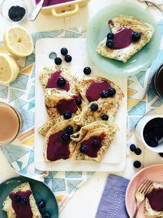 Lemon Poppy Seed Crepes with Blueberry Curd | Joy the Baker