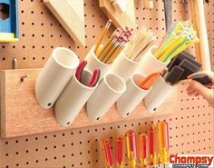 uses for pvc pipes pencil holder