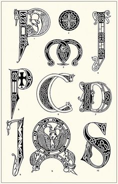 The art of illuminating as practised in Europe from the earliest times : illustrated by borders, initial letters, and alphabets Illuminated Letters, Illuminated Manuscript, Medieval Manuscript, Initial Letters, Letter Art, Letter Fonts, Lettering Design, Hand Lettering, Book Of Kells