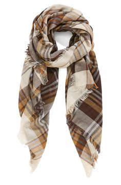 Don't usually see plaid in shades of brown, which makes this one that much more great