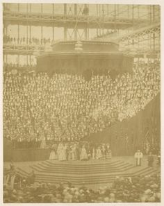 Queen Victoria Presiding at the Reopening of the Reconstructed Crystal Palace at Sydenham by Philip Henry Delamotte Home Photo, Photo Wall Art, Queen Victoria Prince Albert, Glass Building, Art Sites, Crystal Palace, Historical Maps, Vintage Wall Art, Large Art