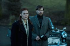 Official 213 Sophie Skelton as Brianna Randall and Richard Rankin as Roger Wakefield in the Season Two Finale of Outlander on Starz