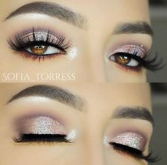 "625 Likes, 2 Comments - Violet Voss®, LLC Cosmetics Co (@shopvioletvoss) on Instagram: ""A soft & romantic look we can look at all day  @sofia_torress dusted Venus #glitter in the center…"""