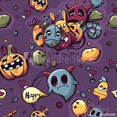Materiał do szycia w Wzory na Halloween Seamless texture hand-drawn Halloween doodles - CottonBee Halloween Doodle, Seamless Textures, How To Draw Hands, Doodles, Snoopy, Fictional Characters, Art, Art Background, Kunst