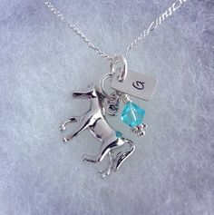 Sporty Girl Equestrian/Horse Riding Hand Stamped Initial Necklace on Etsy, $17.00