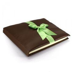 Livre d'or Satin Chocolat & Anis  http://www.artesa-creations.com/album-livre-d-or/459-livre-mariage-chocolat-anis.html
