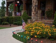 patriotic exterior lights