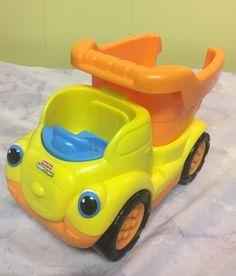 Little People Dump Truck Fisher-Price Kids Toy Orange Yellow Works Great! #FisherPrice