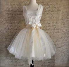 I am Dreaming Beautiful !  Ivory short tulle dress Fluffy tulle layers by TutusChicBoutique,
