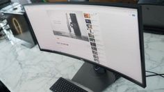 awesome Dell's high-res curved monitor lets you multi-task like a boss