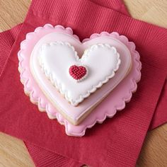 Stackable Ombre Heart Cookies - Treat family, friends and co-workers to something they will all love this Valentine's Day by making easy and impressive cookies. Start with your favorite roll-out cookie recipe or simply dress up store-bought ones by adding some simple details with icing.