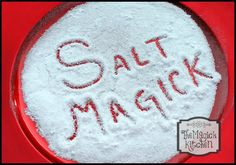 "Salt Magick The Magick KitchenSalt Magic. Salt is a protector, to expel any negativity or to protect yourself from evil make a circle of salt and stand inside it. Now move around the circle and repeat ""Thrice around and thrice repeat, all evil does this ring defeat"" do this for as long as you like or until you feel a sense of peace. When you move into a new house you should sprinkle a little salt in every corner of ever room the salt will soak up any stale or bad energy"