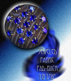Image Copyright RC Larner ~ Jeweled Fabric Button ~ R C Larner Buttons at eBay & Etsy          http://stores.ebay.com/RC-LARNER-BUTTONS