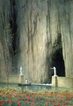 Legh Mulhall Kilpin , Gate of the Infinite Toteninsel first version (Basel,_Kunstmuseum) Fantasy Magic, Fantasy World, Dark Fantasy, Fantasy Artwork, Fantasy Concept Art, Art Environnemental, Fantasy Places, Fantasy Setting, Fantasy Landscape