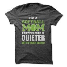 Softball Mom T Shirts, Hoodies, Sweatshirts. BUY NOW ==► https://www.sunfrog.com/Sports/Softball-Mom-T-shirt.html?41382