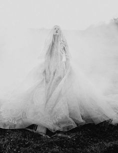 Tim Walker - The Sunday Times | Kristen McMenamy wearing Elie Saab Haute Couture