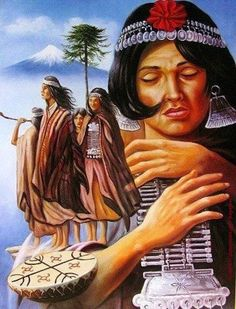 COMUNIDADES MAPUCHE DE MALLEKO EN RESISTENCIA A LA RELACIÓN ESTADO-PUEBLO MAPUCHE Jem And The Holograms, Goddess Art, Aboriginal Art, Native Art, South America, Illustrations Posters, Nativity, Pop Art, Folklore