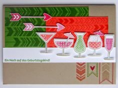 Cocktails in quietschigen Farben   http://eris-kreativwerkstatt.blogspot.de/2014/05/cocktails-in-quietschigen-farben.html