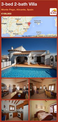 3-bed 2-bath Villa in Monte Pego, Alicante, Spain ►€199,950 #PropertyForSaleInSpain