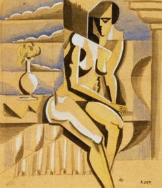 André Lhote - Seated Nude, 1917