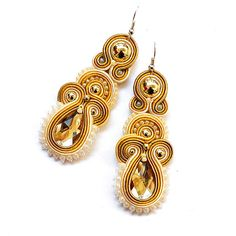 Hey, I found this really awesome Etsy listing at https://www.etsy.com/listing/207013986/soutache-earrings-pastel-beige-ecru