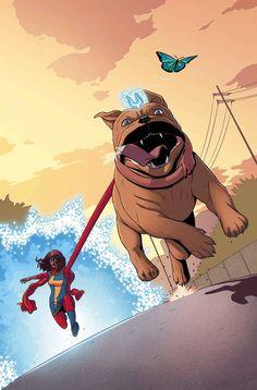 Miss Marvel & Dentinho.