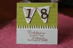 18th Birthday Card 18 Birthday Party Decorations, Birthday Parties, Old Cards, Cards Diy, 18th Birthday Cards, Scrapbook Cards, Scrapbooking, Milestone Birthdays, Anniversary Cards