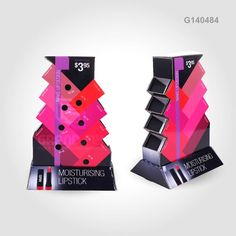 G140484 Paperboard Lipstick Counter Display - Grand Fly