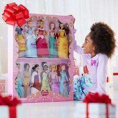 I feel like a 4 year-old!!! I WANT THIIIIS!!! Disney Princess Classic Doll Collection Gift Set - 12''